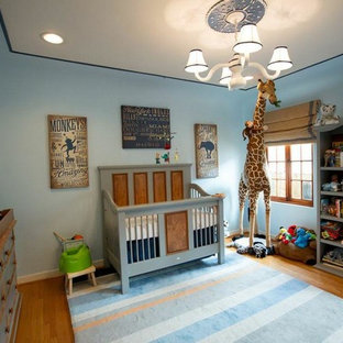 Example of a minimalist boy nursery design in Los Angeles
