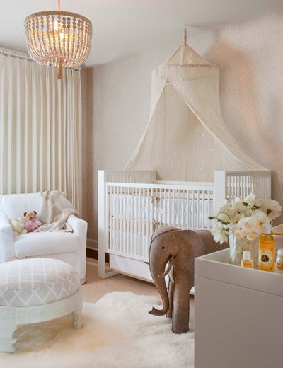 Transitional Nursery by Lori Gentile Interior Design