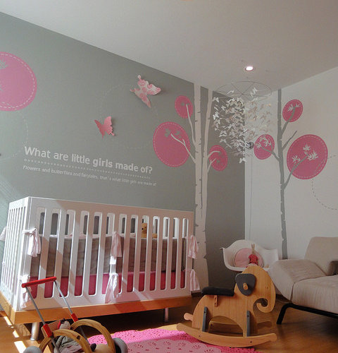 Modern Nursery Ideas: Girls Bedroom Themes