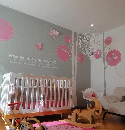 Modern Nursery Ideas: Modern Girls Nursery Home Design Ideas, Pictures, Remodel