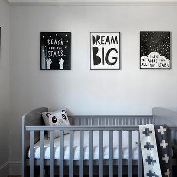 Monochrome Nursery. By Born & Bred Studio.