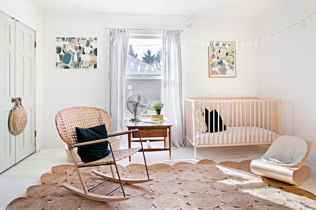 Shabby-chic Style Nursery by Caroline Sharpnack