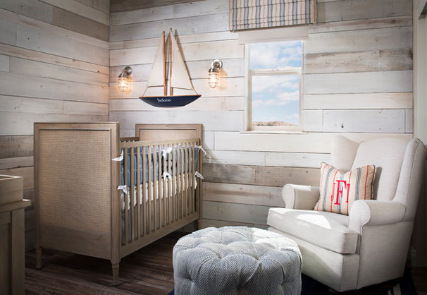 Beach Style Nursery by Style On a Shoestring