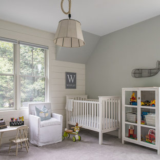 Example of a cottage nursery design in Boston