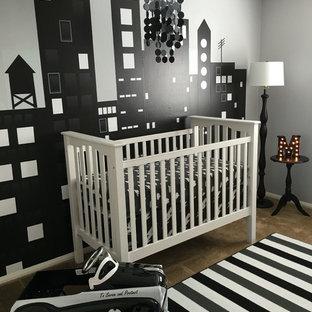 Idées déco pour une chambre de bébé moderne.
