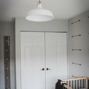Aménagement d'une chambre de bébé classique.
