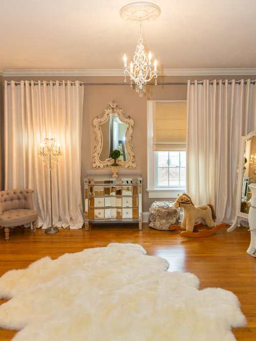 Nursery chandelier houzz example of a large classic gender neutral medium tone wood floor nursery design in new aloadofball Choice Image