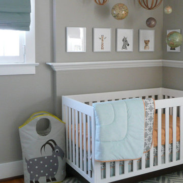 NURSERY, Travel theme, Modern, Eclectic, Pittsford, NY