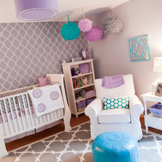 Contemporary Nursery by Barden's Decorating, Inc.