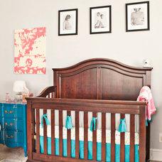 Traditional Nursery by SingleBubblePop Design Studio