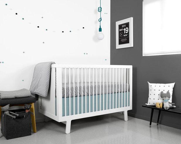 Le gris, couleur douce et passe-partout dans les chambres de bébé
