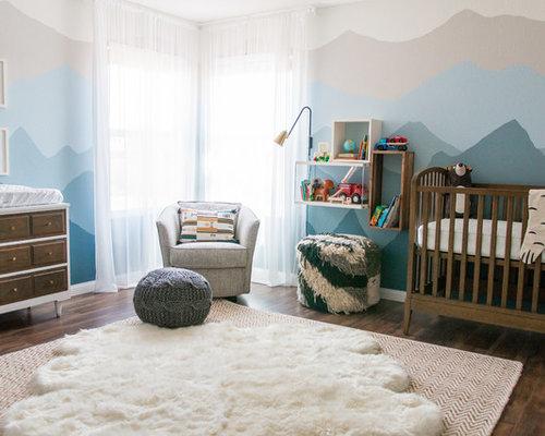 Large Transitional Gender Neutral Dark Wood Floor And Brown Nursery Photo In Las Vegas