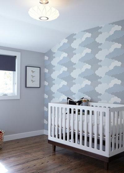 Midcentury Nursery by Davis Home Pros