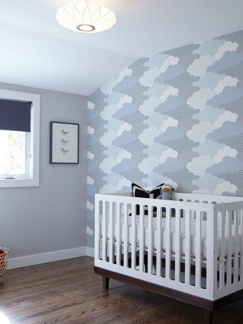 Midcentury nursery ideas designs remodels photos - Estores para habitacion bebe ...