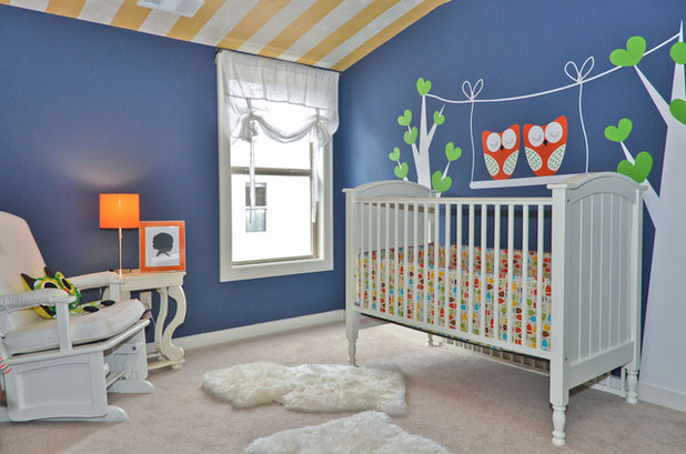 Eclectic Nursery by Signature Homes