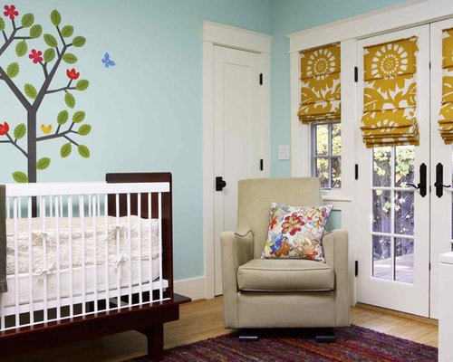 Inspiration For An Eclectic Gender Neutral Medium Tone Wood Floor Nursery  Remodel In San Francisco