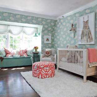 This is an example of a large bohemian nursery in Los Angeles.