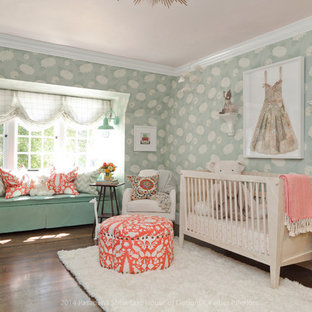 This is an example of a large eclectic nursery in Los Angeles.