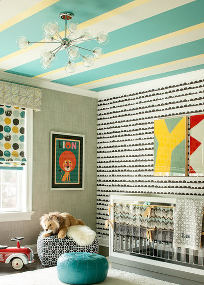 Contemporary Nursery by Karen B Wolf Interiors, Associate ASID