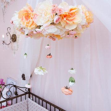 Peachy Roses Baby Room