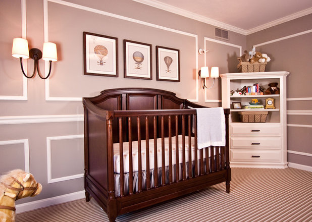 Traditional Nursery by Reflections Interior Design
