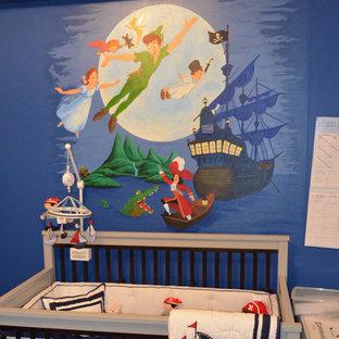 Peter Pan Mural for a Nursery