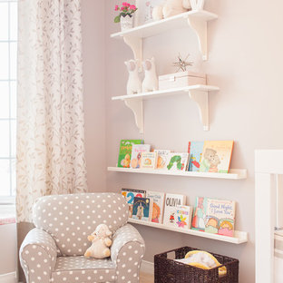 Mid-sized contemporary nursery in Toronto for girls.