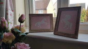 Pink & Yellow nursery soft furnishing