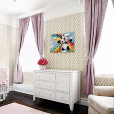 Transitional Nursery by Vision Build Interiors
