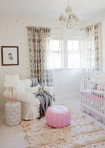 Eclectic Nursery by The Cross Interior Design