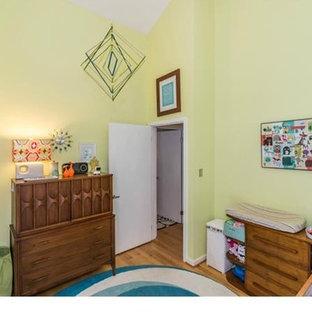 Design ideas for a small retro nursery in Richmond.