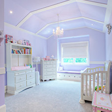 Transitional Nursery by Rockwood Custom Homes