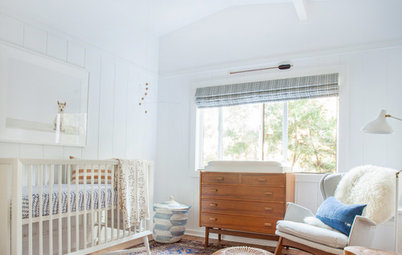 room of the day from dark walk in closet to bright and warm nursery