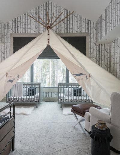 Rustic Nursery by Locati Architects
