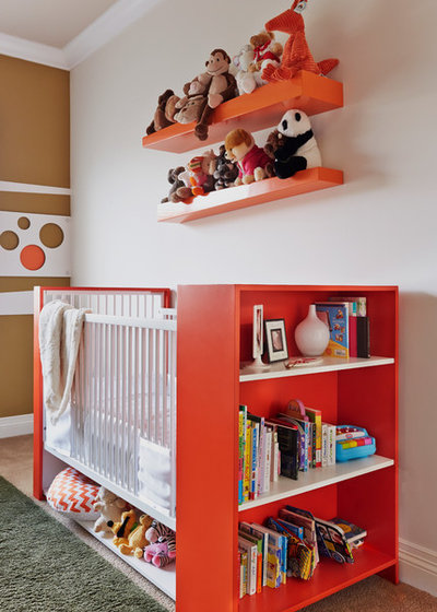 Contemporary Nursery by Dupuis-Design Corp