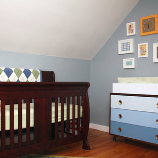 Simple Midcentury Inspired Nursery