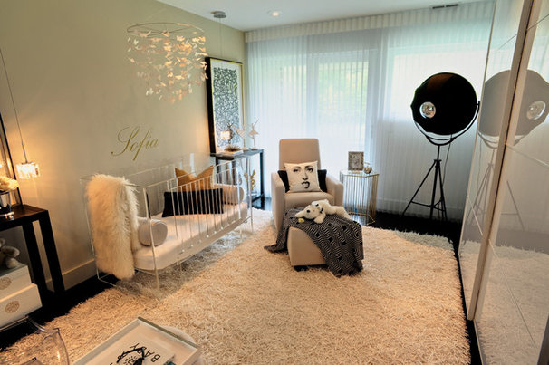 Contemporary Nursery by SHANNON ROSATI INTERIORS