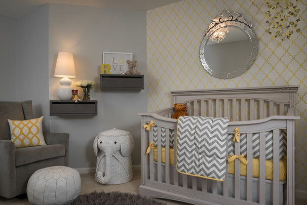 Transitional Nursery by Beckwith Interiors