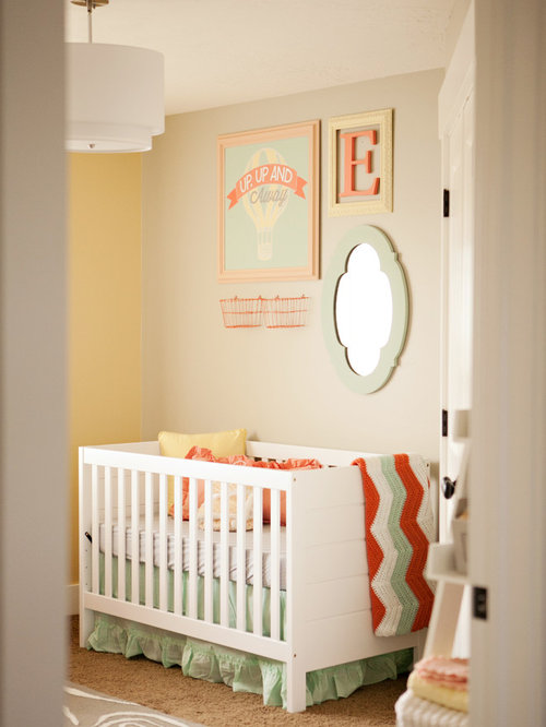 Eclectic Nursery Ottawa Inspiration for a mid-sized eclectic nursery remodel for girls in Salt Lake City with