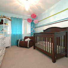 Modern Nursery by Dean Coleman, Royal LePage Real Estate.