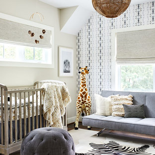 Inspiration for a medium sized classic gender neutral nursery in DC Metro with beige walls, carpet and beige floors.