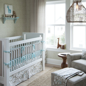 Taupe Suzani Crib Bedding Collection by Carousel Designs
