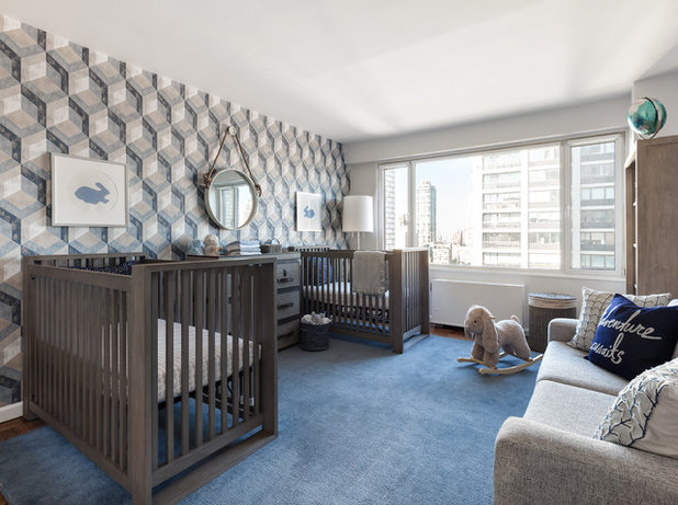 Transitional Nursery by Touijer Designs