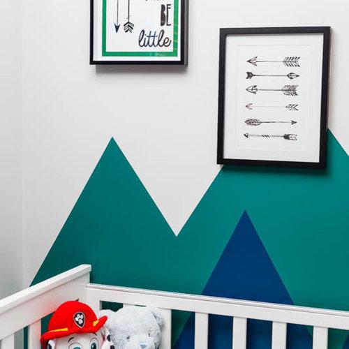 Chambre de bébé avec un mur bleu Perth : Photos, aménagement ...