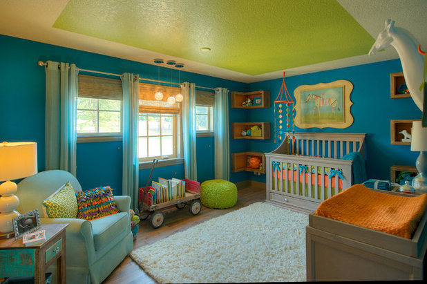 Spectacular Transitional Nursery by Urban I D Interior Design Services