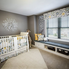 Transitional Nursery by Veridian Homes