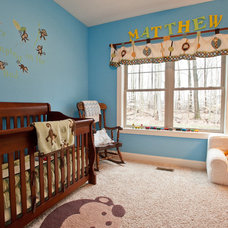 Contemporary Nursery by Artisan Building and Design, LLC