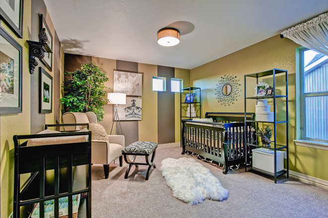 Eclectic Nursery by Oakwood Homes