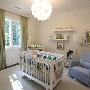 Réalisation d'une très grand chambre de bébé neutre craftsman.