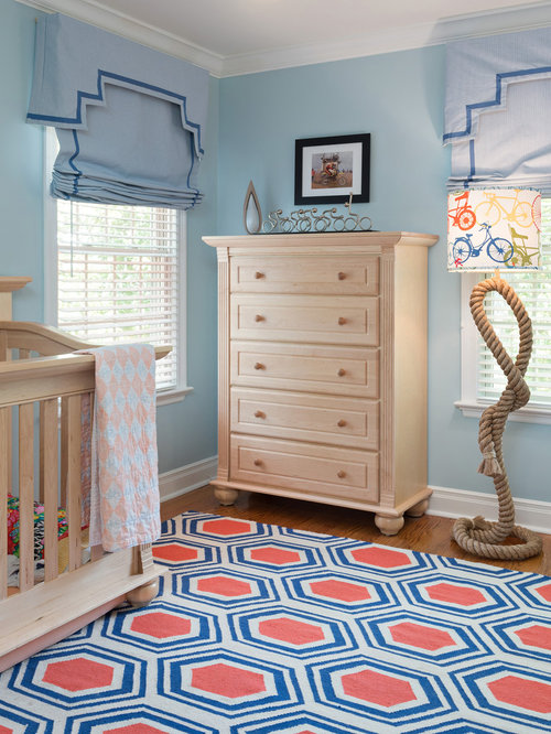 Inspiration For A Mid Sized Timeless Gender Neutral Medium Tone Wood Floor  Nursery Remodel